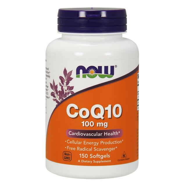 NOW Foods CoQ10 100 mg 150 Softgels,ubiquinone Coenzyme Q10, FRESH, Made In USA