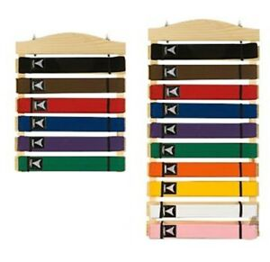 Martial Arts Belt Display Wall Rack Holder for Karate Tae Kwon Do Belts