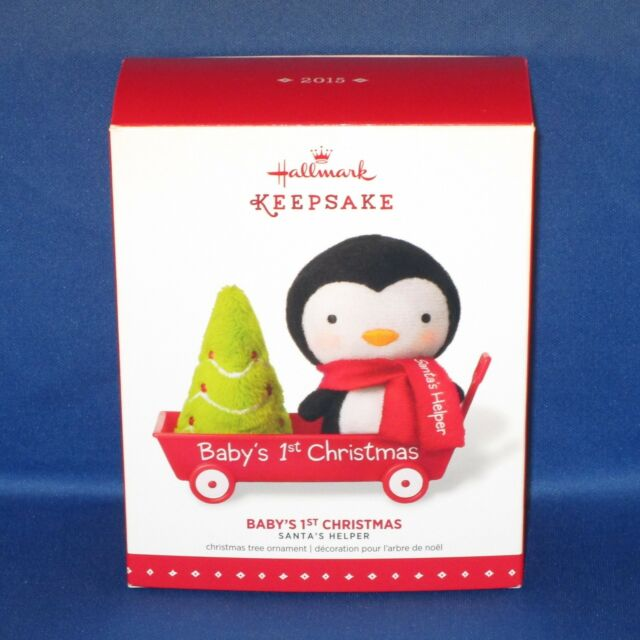 Hallmark - 2015 Baby's 1st Christmas - Penguin Wagon Keepsake Christmas Ornament