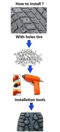 100Pcs Car Tires Studs For Holes tire Screw Snow Spikes Wheel Tyres Chains Studs