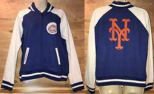 NWT New York Mets Majestic Royal Athletic Greatness Full-Zip Varsity Jacket XL