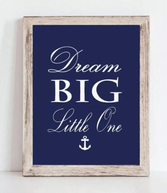 Navy Blue Boy Nautical Nursery Print, Baby Boy Whale ...