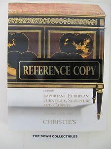 Christie S European Furniture Sculpture Carpets Auction Catalog London 2007 Ebay