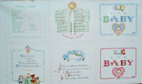 2009 Susan Branch Baby Love Panel Craft Quilt Squares Fabric