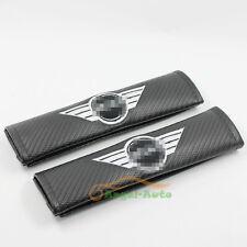 2PCS Fit For Mini Cooper Sports Fiber Seatbelt Seat Belt Cover Shoulder Pads