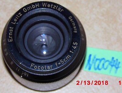 n00044 Diplomatisch Ernst Leitz Gmbh Wetzlar Projektionsobjektiv 1:4,5/5cm; Focotar ZuverläSsige Leistung