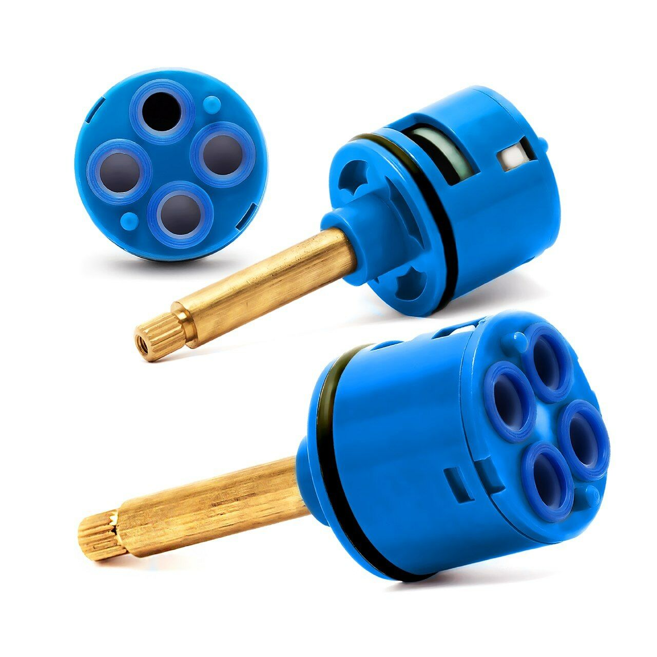 Shower Valve Cartridge 4 Way Panel Faucet Cartridge Brass Handle D 37 L 40mm