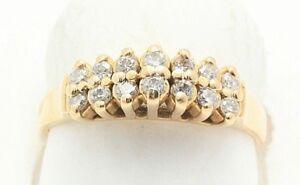 66dbc31e7cfc3 Vintage 1/2 Carat Diamond Pyramid Ring 14k Gold | eBay