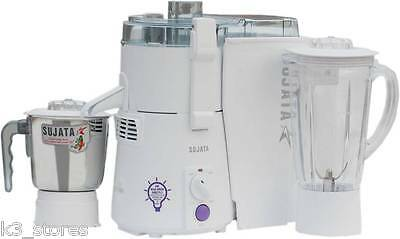 Sujata Powermatic Plus 900 W Juicer Mixer Grinder New Model (White, 2 Jars) JMG