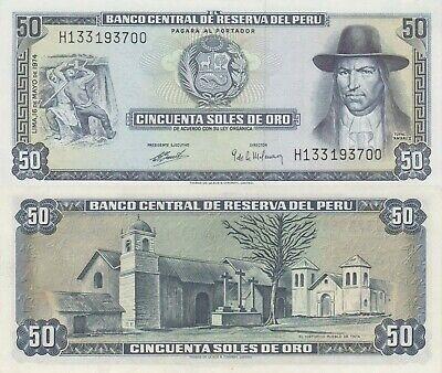 PERU 5000 SOLES DE ORO 1985 P117c UNCIRCULATED