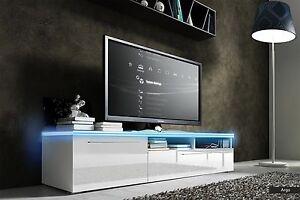 Dettagli su Mobile porta tv Argo per soggiorno moderno, design bianco o  nero con LED incluse