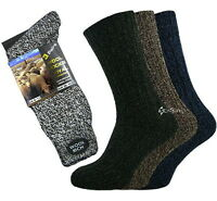 6 Pairs Mens Wool Rich Boot Hike Walking Thermal Chunky Work Socks Size 6-11