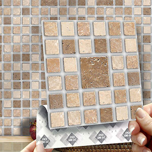 self adhesive kitchen wall tiles 8 mosaic stick on self adhesive wall tile stickers 7884