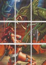 Red Sonja Breygent - Robert E. Howard Puzzle Set of 9 Chase Cards #RS-P1-P9
