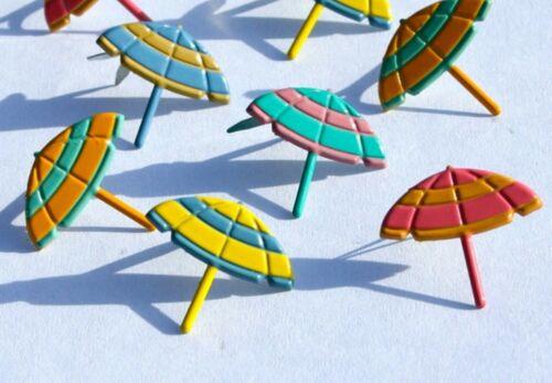 BEACH UMBRELLA BRADS Scrapbooking Summer Vacation Card Making Stamping