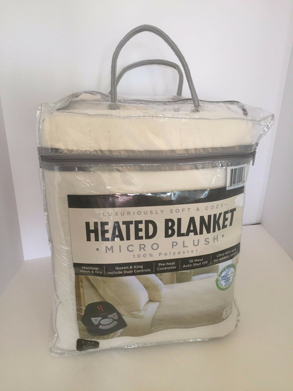 Biddeford Micro Plush Heated Blanket Polyester KIng KIng KIng 100  x 90  Ivory OBD04 NEW 7716dd