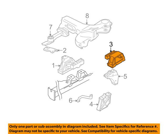 OE Volkswagen VW ENGINE MOTOR MOUNT LEFT 1K0.199.555.AP 1K0199555AP New