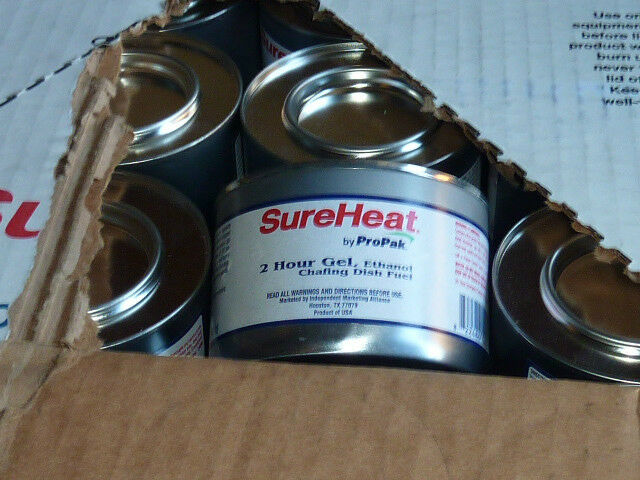 72 cans sureheat propak STERNO  CANNED SAFE HEAT CAN 2 HOUR FUEL gel  welcome to order