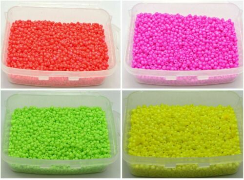 Storage Box Pick your Color 10//0 5000 Neon Color Glass Opaque Beads 2mm