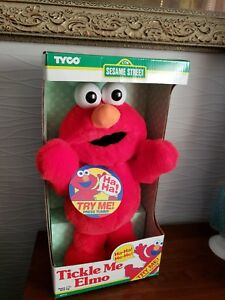 Film- & TV-Spielzeug 1995 Original Tickle Me Elmo Vintage Plush Doll Tyco New in Box from JAPAN RARE!