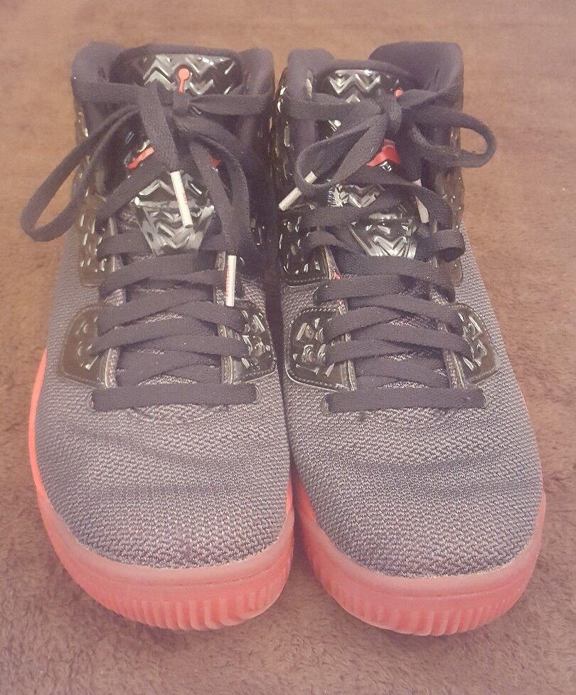 2018 Nike Air Jordan Spike Spike Spike Lee cuarenta PE Sz 8 Negro Rojo Fuego Retro 807541-002 Usado En Excelente Condición 553b0a