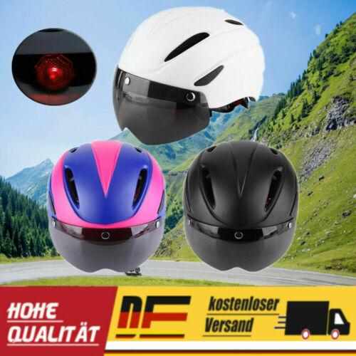 Profi MTB Radhelm Fahrradhelm Erwachsene mit Magnetic Goggles Rennrad Helme DHL