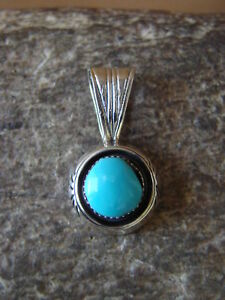 Navajo-Indian-Jewelry-Sterling-Silver-Turquoise-Pendant-by-Sadie-Jim