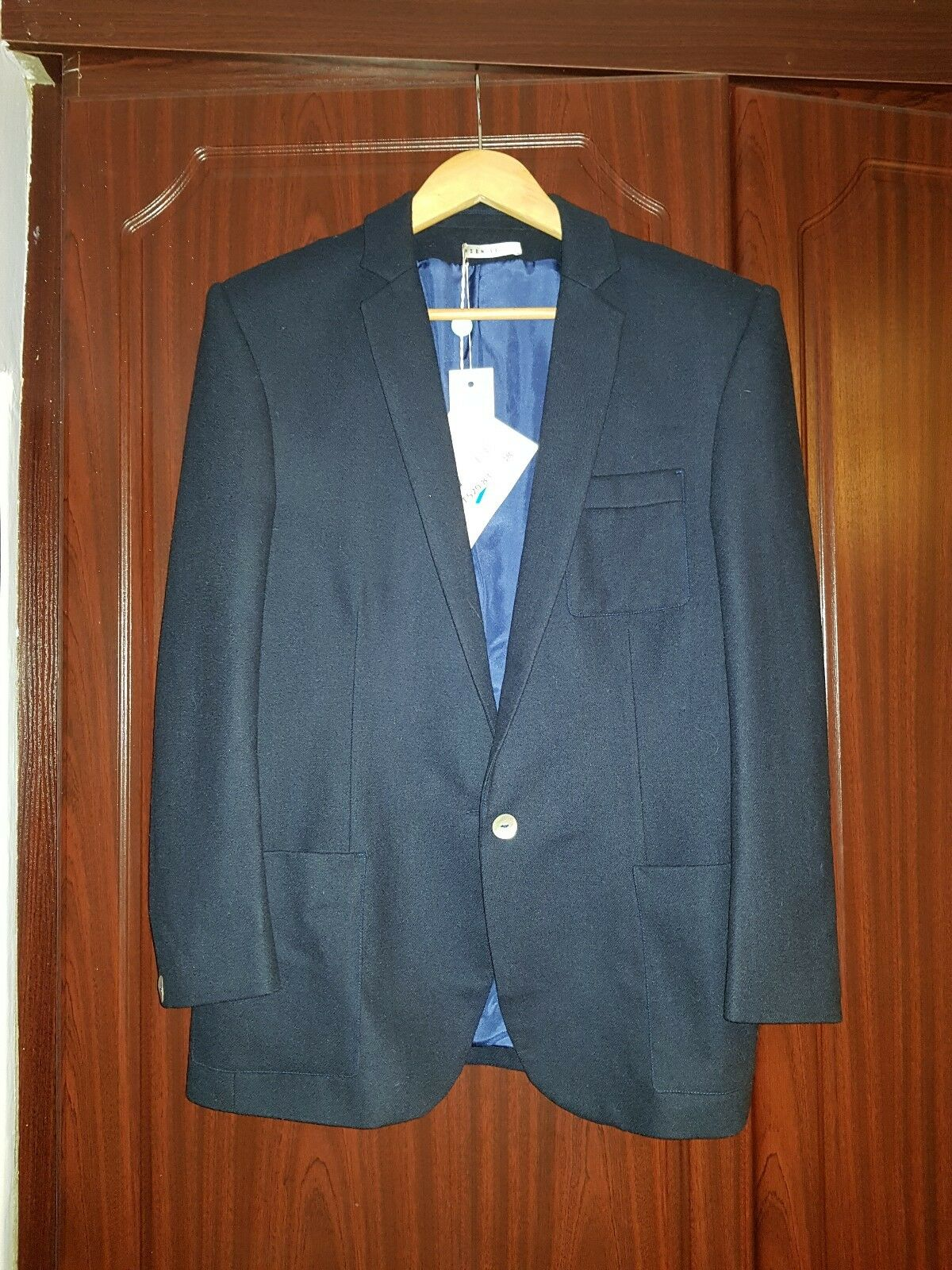Hein Le Wool and and and Silk Navy Blazer. RRP .83. 918b0e