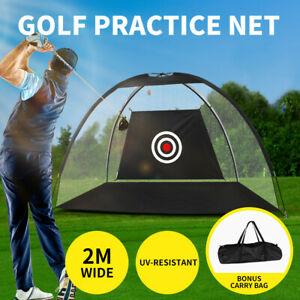 2M Golf Practice Net Hitting Nets Driving Netting Chipping Cage Training Aid
