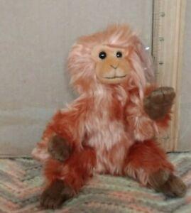 Ty Beanie Baby CAIPORA the  Golden Lion Tamarin, Monkey