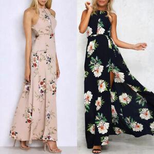 High-Maxi-Dress-Evening-Size-Summer-Boho-Vintage-Beach-Chiffon-Party-Long-Split