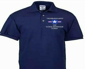 PATRICK AIR FORCE BASE FLORIDA USAF EMBROIDERED POLO SHIRT/SWEAT/JACKET.