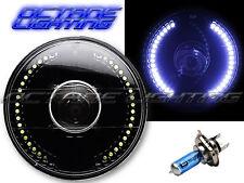 """7"""" Motorcycle White LED Angel Eye Halo Headlight Turn Signal Light Bulb: Harley"""