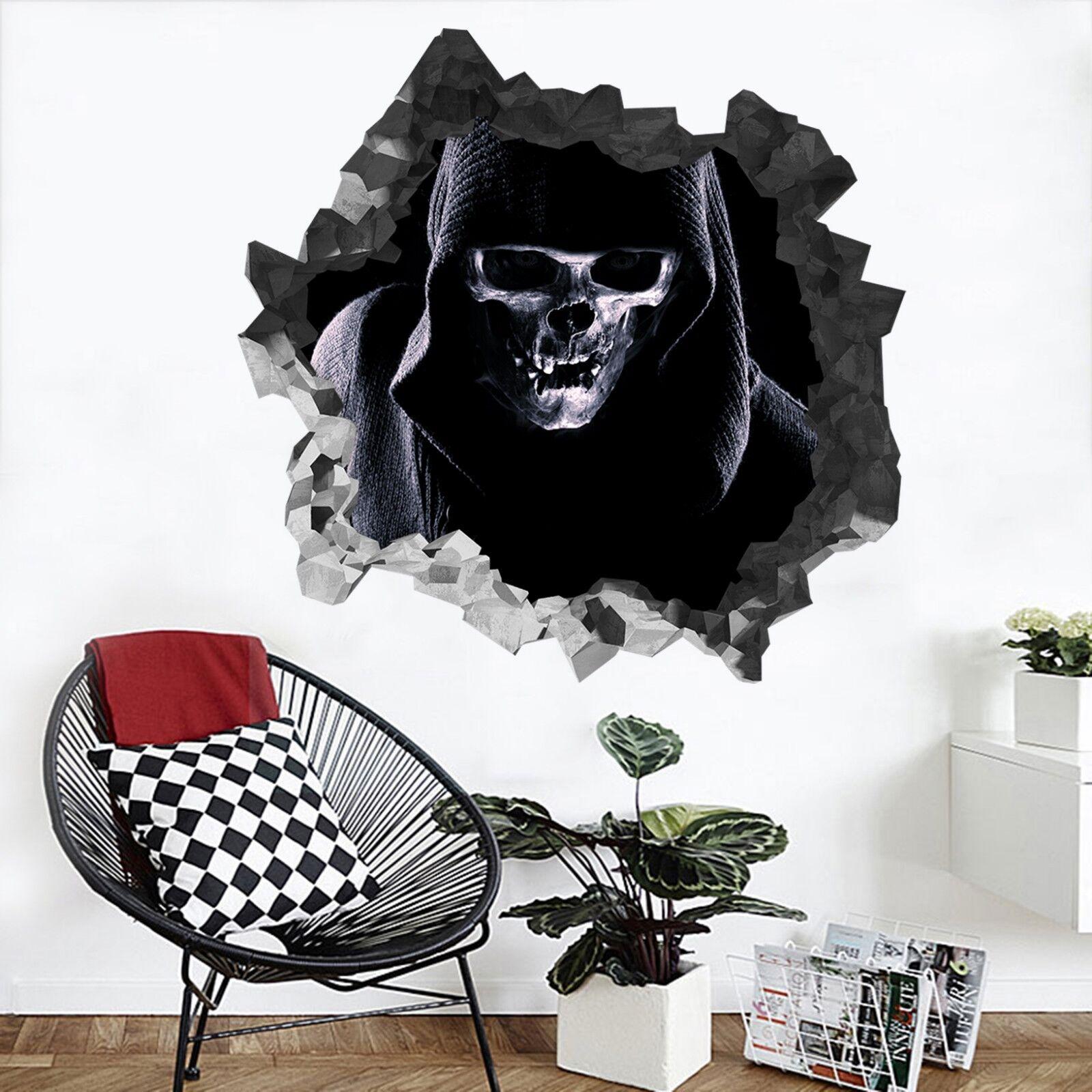 3D men Del Cranio 201 Parete Murales Parete Adesivi Decal Sfondamento IT