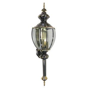 Exterior Wall Lights Brass : Gun Metal And Polished Brass Exterior Wall Light 34