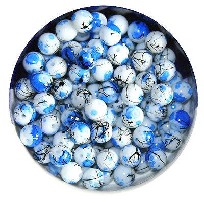 KP06 Glasperlen Kugel Beschichtete Perlen 6mm - 45Stück