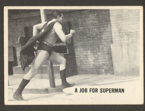 SUPERMAN original 1950's tv series # 6 trading card GEORGE REEVES