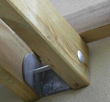 Staffa per listoni paralleli da 120 per ancoraggio pergole addossate