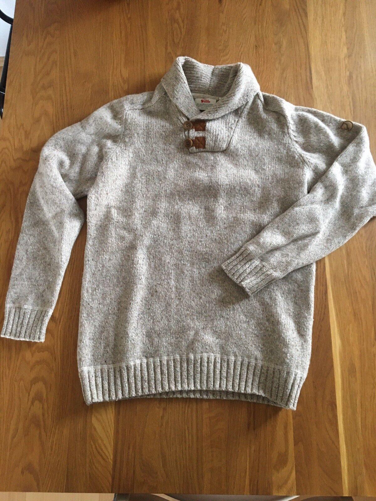 Fjällräven Lada Sweater Pul r Gr. M Fog 81346 80% Wolle Wie Neu