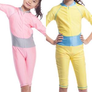 Muslim Kids Girls Swimwear Swimming Costume Swimsuit Summer Islamic Swim Burkini