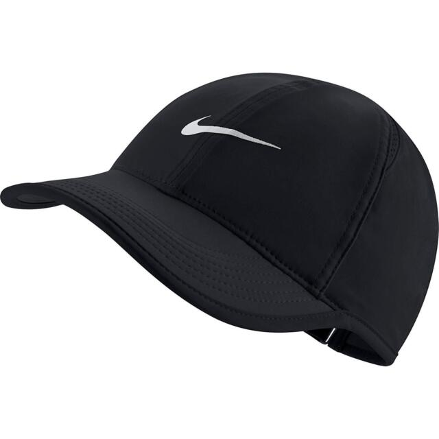 708a444ebfd89 Women s Nike Featherlight Tennis Hat 679424 Black white 010 for sale ...