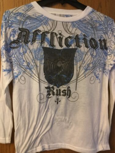 "Affliction (Brand) - ""Rush""  Long Sleeve White Shi"