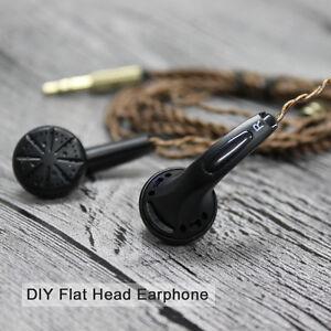 EMX500-In-ear-Earphone-Flat-Head-Plug-Earbuds-DIY-HiFi-Heavy-Bass-Headphone-DJ