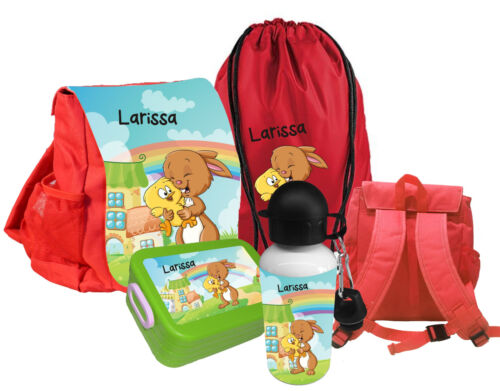 Kindergartenrucksack CHiCO HASE WUNSCHNAME Rucksack  Kinderrucksack ROT