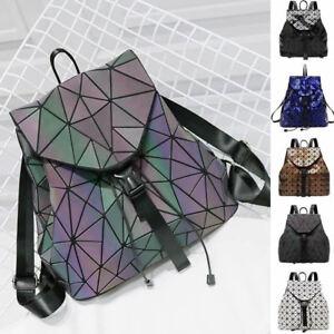 Shiny-Reflective-Drawstring-Backpack-Rucksack-Daypack-Bucket-Bag-Cute-Purse