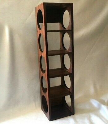Crate And Barrel Wall Mount 5 Bottle Wooden Wine Rack
