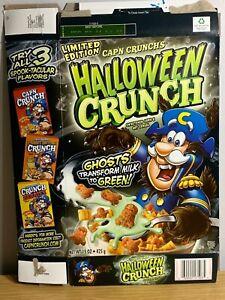 Captain Crunch Halloween Crunch 2010 Very Very RARE Werewolf Cereal Box