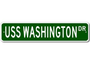 Navy USS WASHINGTON BB 56 Street Sign