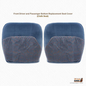 Pleasant Details About 1994 1995 1996 Ford F150 Xlt Driver Passenger Bottoms Cloth Seat Cover In Blue Machost Co Dining Chair Design Ideas Machostcouk