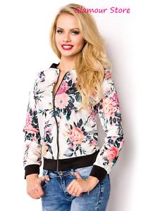Sexy GIUBBINO FLOREALE taglia S,M,L,XL,2XL (40,42,44,46,48) giacca moda GLAMOUR